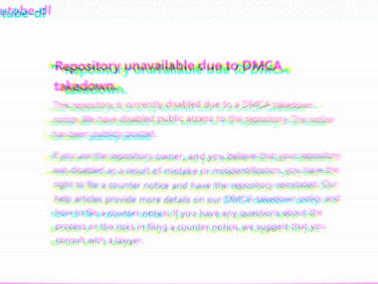 Все уже выразили свое мнение, теперь моя очередь. GitHub по просьбе RIAA заблокировали репозиторий  youtube-dl и все его основные форки. При этом это было просто обращение, в котором RIAA утверждает, что youtube-dl создан с единственной целью - воровать ви